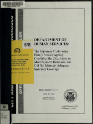 Department of Human Services by San Francisco (Calif.). Office of the Controller. Audits Division.